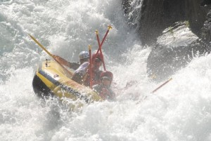 rafting tunnel chute